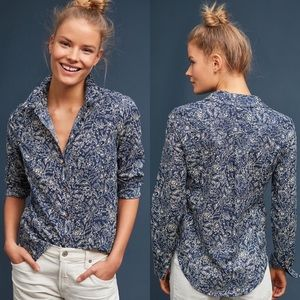 Anthropologie Maeve Petrin Button Down Blouse